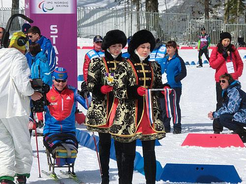 プレパラリンピックのセレモニーが始まる