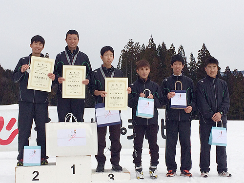 平クロスカントリースキー大会表彰式
