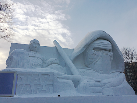 スターウォーズの雪像